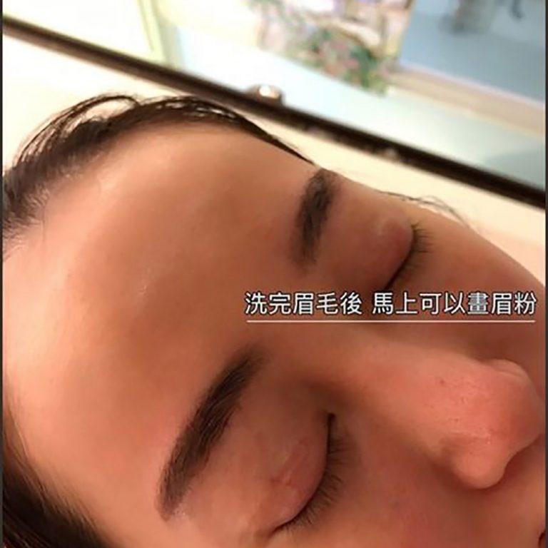 洗眉後可上眉粉-台北高雄洗眉專家「美智紋繡殿」